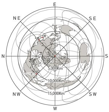 正 距 方位 図法 【中学地理】正距方位図法の特徴・ポイント